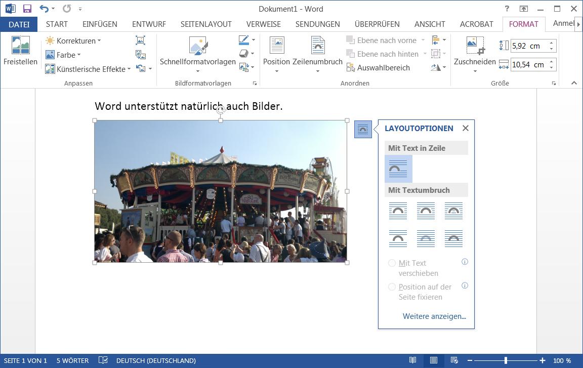 Buchdruck-Blog: Fotos in Microsoft Word verwenden - Gicom Druckservice
